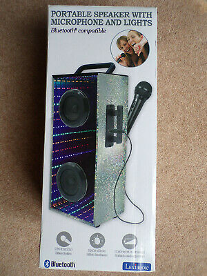 Lexibook Portable Karaoke Party Bluetooth Speaker With Microphone  LED Lights