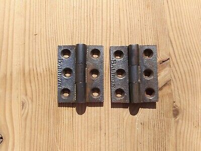 "Cast Iron 2"" Hinges (Victorian/Edwardian) FREE UK DELIVERY"