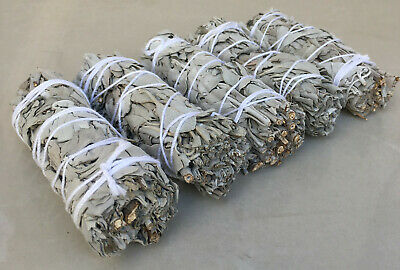 "White Sage Smudge Stick | 4"" to 5"" Wands House Cleansing Negativity  (LOT OF 5)"