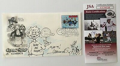 Sergio Aragones Signed Autographed First Day Cover w MAD Sketch JSA Certified