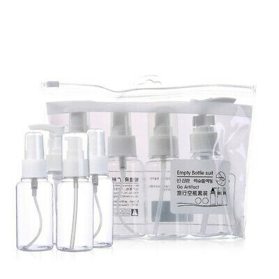 4Pcs Travel Size Liquid Foundation Lotion Cosmetics Refillable Bottles Kit Clear