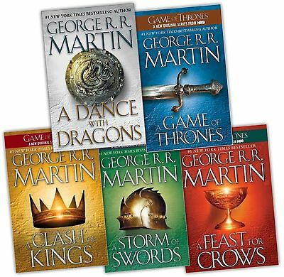 Game of Thrones A Song of Ice & Fire George Martin e Books 1-5 Kindle mobi epub