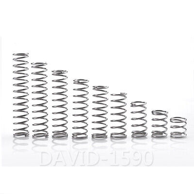 1.4mm Wire Dia. 10mm - 25mm Outside Dia. Compression Spring 304 Stainless Steel