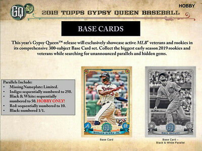 2019 Topps Gypsy Queen Baseball Complete Your Set Pick 25 Cards From List