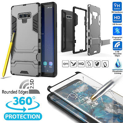 For Samsung Galaxy Note 9/8/S9/S8/S10 Plus Shockproof Slim Case+Screen Protector