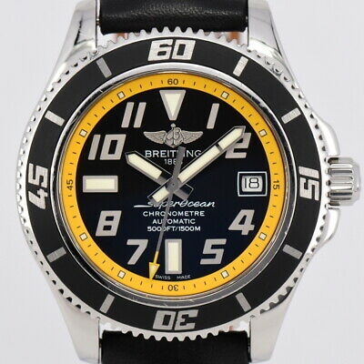 Auth Breitling Super Ocean A17364 Chronometer Date Automatic Men's Watch O#85101
