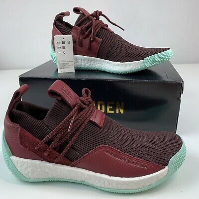 b43791a1938 NEW Mens Sz 10.5 ADIDAS HARDEN LS 2 LACE CG6277 Red Maroon Clear Mint James  a1