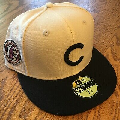 90f5872751face Chicago Cubs New Era 59FIFTY Fitted MLB Hat - White/Black 1908 World Series  NWT