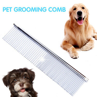 Stainless Steel Comb Hair Brush Shedding Flea For Cat Dog Pet Trimmer Grooming F