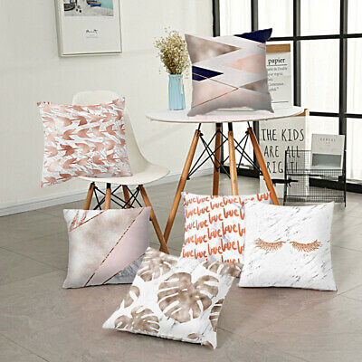 Marble Pattern Comfortable Cushion Cover Bed Pillowcase Home Decor Salable