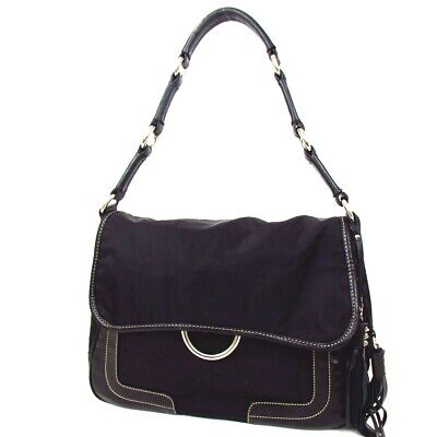 08ebebdc8da9 AUTHENTIC CHRISTIAN DIOR Kanaju Shoulder bag Patent leather[Used ...