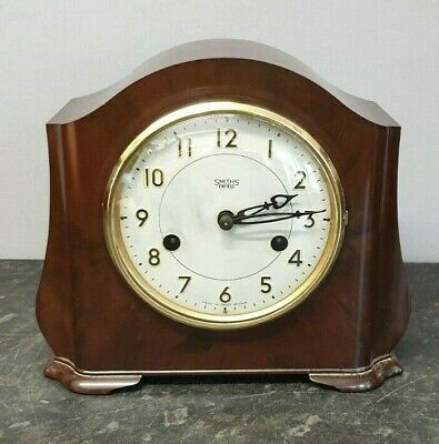 Vintage Smiths Enfield Bakelite Encased 8 Day Mantle Clock with Strike