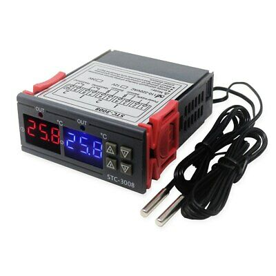 STC-3008 Two Relay Digital Thermostat Temperature Controller for Incubator