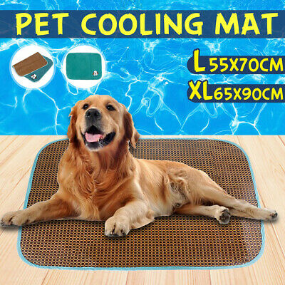 Pet Cool Gel Mat Dog Cat Bed Non-Toxic Cooling Dog Summer Pad 4 Colors 65x90cm