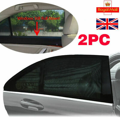 2Pcs Kids Children Car Sunshade Blocker Rear Window UV Mesh Sun Shades Blind
