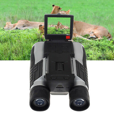 "Foldable 720P Telescope Camera 12x32 Binoculars 2"" LCD Display Digital Recorder"