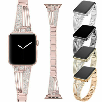 Bling Rhinestones Strap for iWatch Apple Watch Series 4 3 2 1 Band 44/40/42/38mm