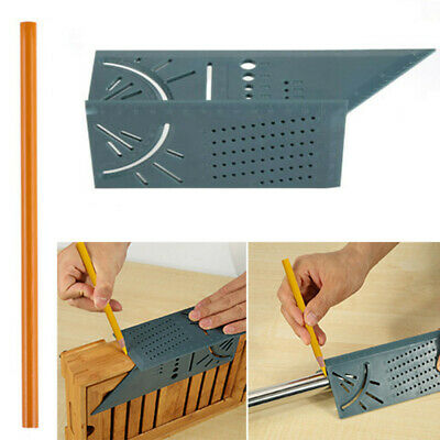 3D Mitre Angle Measuring Square Size 1PC Woodworking Measure Tool Gauge Ruler