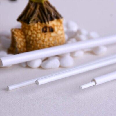 Length 250mm ABS Plastic Rod Round Hollow Bar DIY Building Model Material White