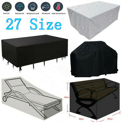 Garden Rattan Outdoor Furniture Cover Patio Table Protection Black 17 Size