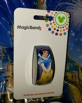 Disney World SNOW WHITE BLUE Magic Band 2.0 Magicband Link It Later Parks