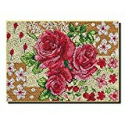 "Latch Hook Rug Kit""Pink Roses"" 95x60cm"