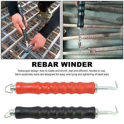 Semi-automatic Rebar Hook Tie Wire Twister Retractable Hook Construction Tools