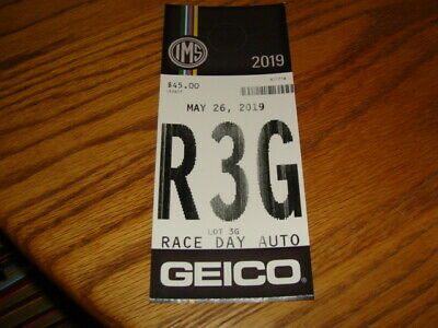 2019 Indianapolis Indy 500 Brickyard Plaza Lot 3G Race Day Parking Pass