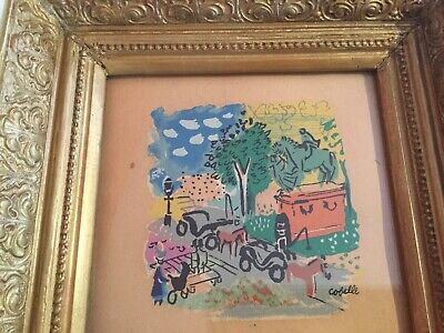 Charles Cobelle, (1902–1994) French Original Watercolor Painting