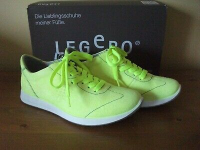 Ladies LEGERO 881 AMATO Neon Lime SUEDE Lace Up TRAINER Size UK 4 EUR 37 NEW!