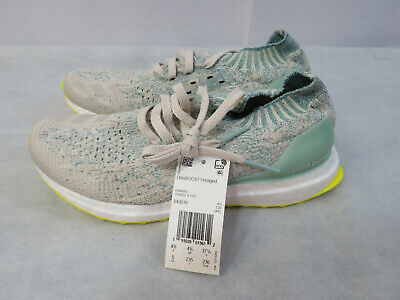 7da0e8194 Adidas Ultraboost Uncaged GS Running Shoes White Green 4.5Y 6 Women s New