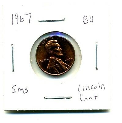 Lincoln MEMORIAL Cent 1967 SMS CH BU Brilliant Uncirculated 1 Penny Coin US#1537
