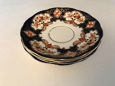 "Saucer 5.5"" Across Royal Albert Crown China Heirloom Imari Cobalt Blue 4534B"