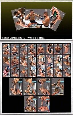 2019 TOPPS CHROME WAVE 3 SET OF 30 CARDS Topps UFC Knockout Digital Card