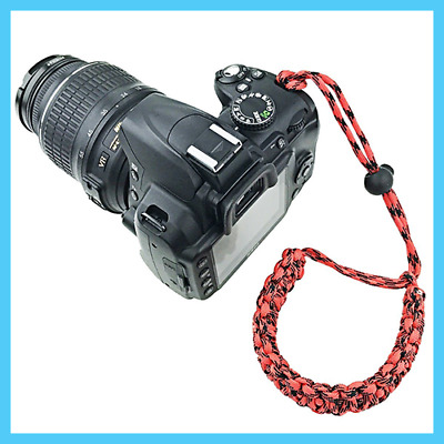 [ Olive Drab Braided 550 Paracord Adjustable ] Camera Wrist Strap Bracelet