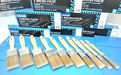"Harris Trade Fine-Tip Brush Set of 10 Pieces 2 x ½"", 2 x 1"", 2 x 1½"" and 4 x 2"""
