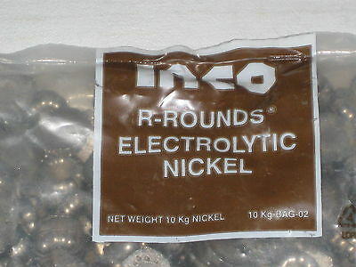 New INCO R-ROUNDS 99.9% Electrolytic Pure Nickel- 3 Lbs 1.36 kg plating material