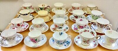 10 teacups & saucers,mismatched china,mismatched,high tea,tea party,madhatter