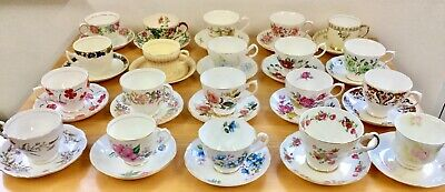 Vintage Mismatched China Cups,Saucers, Plates,Cake Plates Weddings,Tea Party