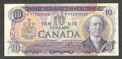 1971 *TT $10.00 BC-49cA VF+ Very SCARCE Bank of Canada ASTERISK REPLACEMENT Note