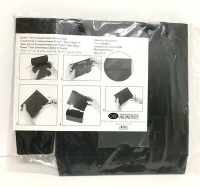 Creative Memories Scrapbook Power Sort Compartment Covers Black 2 Pack NEW