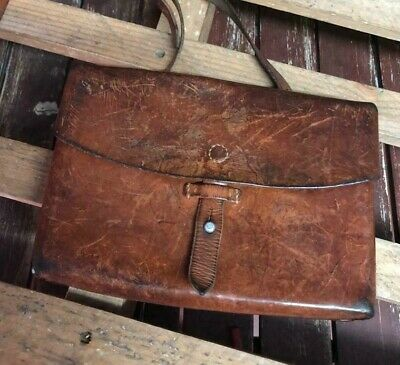 1968 Swiss Army Shoulder Bag Military Maps Card Holder Leather