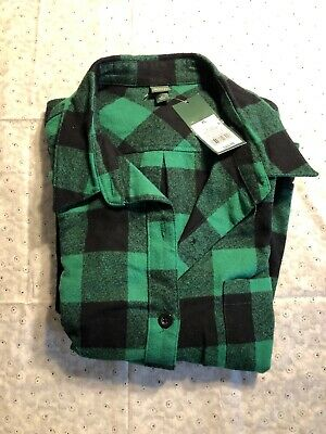 41ace87a NEW Wild Fable Women's Cropped Plaid Button-Down Shirt - Forest Green - XL