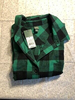 2d492f7c NEW Wild Fable Women's Cropped Plaid Button-Down Shirt - Forest Green - M