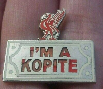 Liverpool Fc Im A Kopite Silver & Red Pin Badge