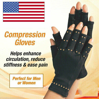 Copper Hands Arthritis Compression Gloves Brace Magnetic Therapy For Men Women