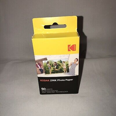 "Kodak Mini ZINK 50 Sheets Adhesive Sticker Backing Photo Paper 2x3"" Printomatic"