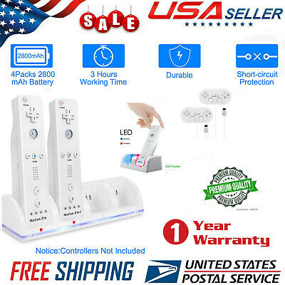 Rechargeable Battery+Charger+Classic Remote for Nintendo Wii Remote Bundle USA