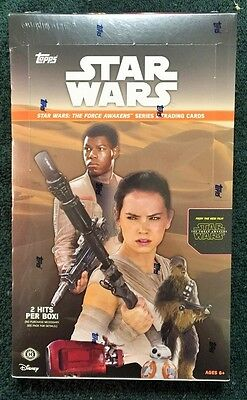 """2016 Topps Star Wars """"The Force Awakens"""" Series 2 Factory Sealed Hobby Box"""