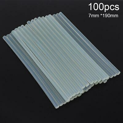100Pcs Hot Melt Adhesive Rod Glue Sticks for Electric Gun Craft Repair 7mm*19cm